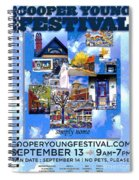 Cooper Young Festival Poster 2008 Spiral Notebook