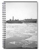 Cooper's Point Barge Hudson River C 1900 Spiral Notebook