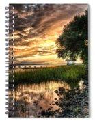 Coosaw Plantation Sunset Spiral Notebook