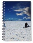 Copano Bay Sunset Flight Spiral Notebook