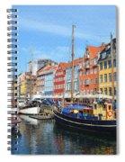 Copenhagen Denmark Nyhavn District Spiral Notebook