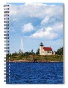 Copper Harbor Lighthouse Spiral Notebook