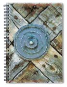 Copper Medalion On Weathered Gate-new Mexico Spiral Notebook