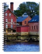 Copper Paint Building Spiral Notebook