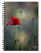 Coquelicot Impression Spiral Notebook