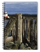 Coquille Lighthouse Oregon 3 Spiral Notebook