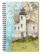 Coquille River Lighthouse Or Nautical Chart Map Art Cathy Peek Spiral Notebook