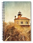 Coquille River Lighthouse - Texture Spiral Notebook