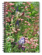 Coral Bells And Irises Spiral Notebook