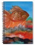 Coral Land Goldfish Spiral Notebook