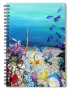 Coral Reef Blues  Spiral Notebook