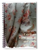 Coral Rose Quilt With Quote Spiral Notebook