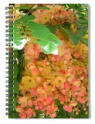 Coral Shower Tree Spiral Notebook