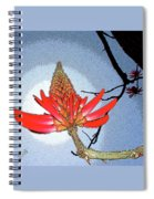 Coral Tree Spiral Notebook