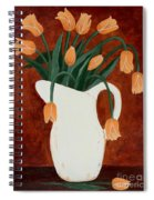 Coral Tulips In A Milk Pitcher Spiral Notebook