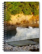 Coralville Dam At Capacity Spiral Notebook