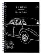 Cord Automobile Patent 1934 - Black Spiral Notebook