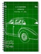 Cord Automobile Patent 1934 - Green Spiral Notebook