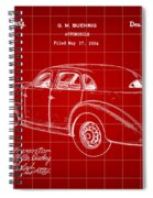 Cord Automobile Patent 1934 - Red Spiral Notebook