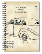 Cord Automobile Patent 1934 - Vintage Spiral Notebook