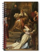 Cordelia In The Court Of King Lear, 1873 Spiral Notebook