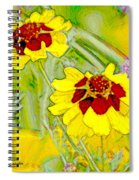 Coreopsis Flowers Spiral Notebook
