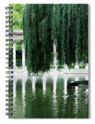 Corinthian Colonnade And Pond Spiral Notebook