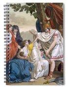 Coriolanus And His Mother Volumnia Spiral Notebook