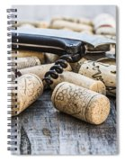 Corks With Corkscrew Spiral Notebook