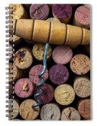 Corkscrew On Top Of Wine Corks Spiral Notebook