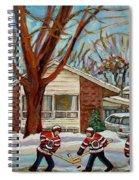Cormac And Friends Neighborhood Hockey Game Ottawa Suburban City Scene Spiral Notebook