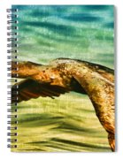 Cormorant On The Move Spiral Notebook