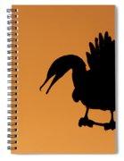 Cormorant Silhouette Spiral Notebook