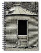 Corn Crib In Monochrome Spiral Notebook