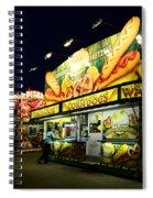 Corn Dog Kiosk Spiral Notebook