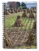 Corn Shocks Amish Field Spiral Notebook