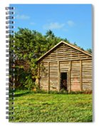 Corncrib In Afternoon Light Spiral Notebook