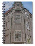 Corner Building Helsingborg 02 Spiral Notebook
