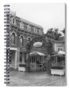 Corner Cafe Main Street Disneyland Bw Spiral Notebook