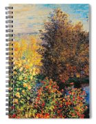 Corner Of Garden In Montgeron Spiral Notebook