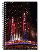 Corner Of Radio City Music Hall Spiral Notebook