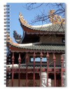 Corners Of A Temple In Grand Prairie Texas Spiral Notebook
