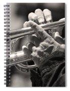 Cornet In Sepia Spiral Notebook