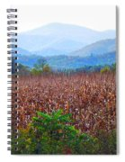 Cornfield In The Mountains Spiral Notebook