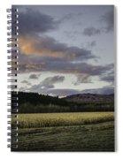 Cornfield Sunset Spiral Notebook