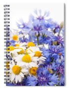 Cornflower And Chamomile Bunch Blooms  Spiral Notebook