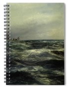 Cornish Sea And Working Boat Spiral Notebook
