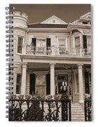 Cornstalk Fence Hotel Sepia Spiral Notebook
