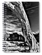 Corona In Black And White Spiral Notebook