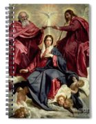 Coronation Of The Virgin Spiral Notebook